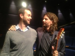 with Curro after movie presentation about his father Paco de Lucia