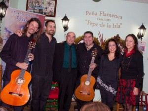 After concert with el Zuri, Paco Jimeno and Ana Fargas
